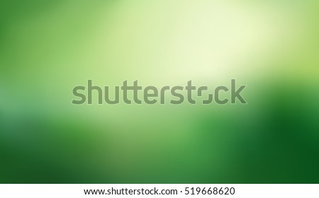 Abstract green nature blurred gradient background. Vector illustration. Ecology concept for your graphic design, banner or poster.
