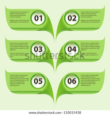 Abstract green organic leaf bubble templates with sample text.