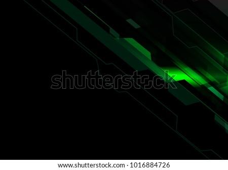 stock-vector-abstract-green-polygon-light-technology-energy-on-black-design-modern-futuristic-background-vector