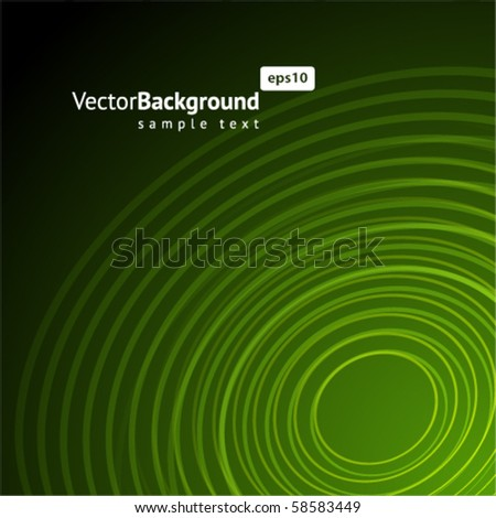 Abstract green radio wave background