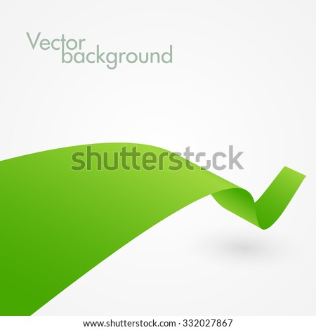 abstract green ribbon vector
