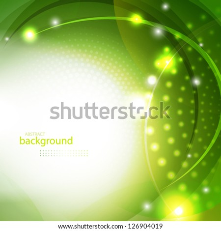 Abstract green shiny background vector illustration
