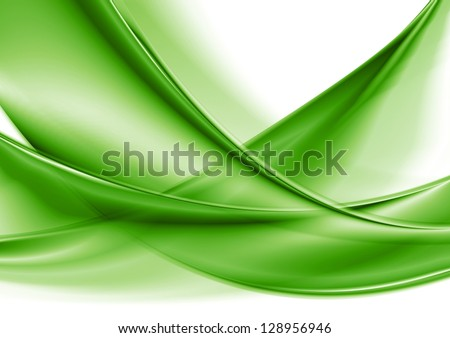Abstract green smooth waves. Vector background eps 10