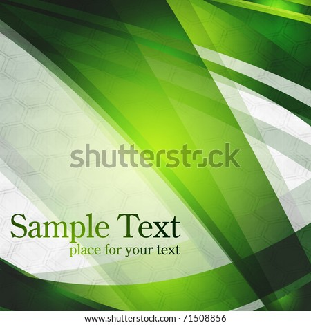 Abstract green stripes on grey background. Eps 10