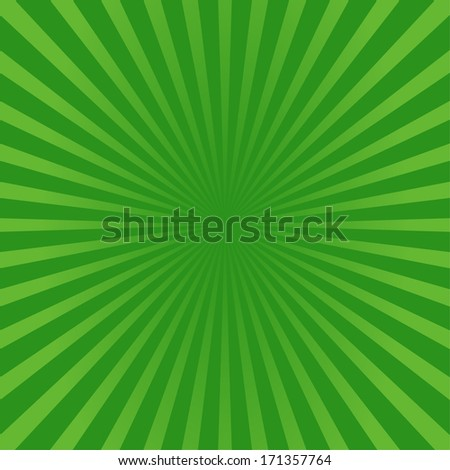Abstract green sunburst style background