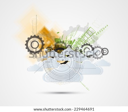 Abstract green technolgy business concept.Ecology background