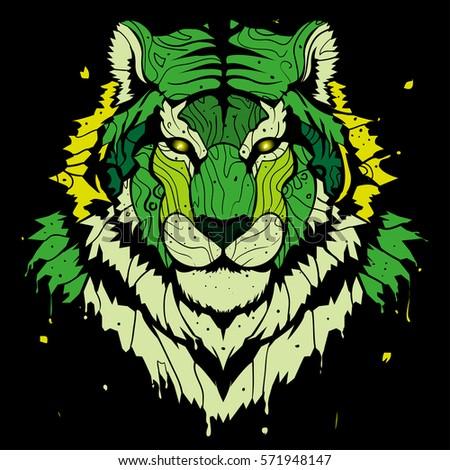 abstract green tigersplash