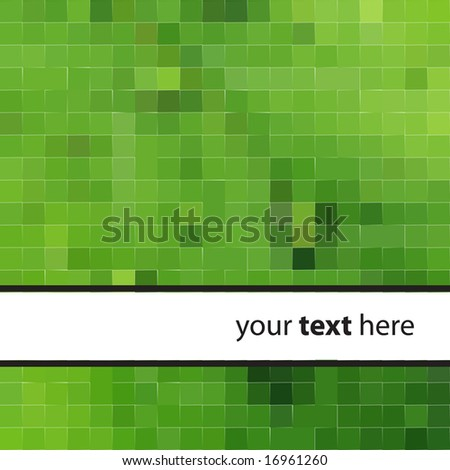 Abstract Green Tiles Background