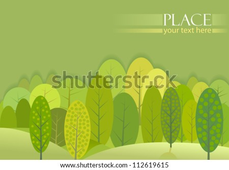 abstract green trees forest