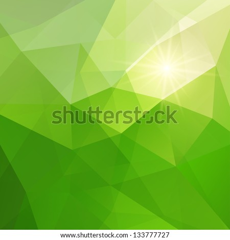 Abstract green triangle background, vector illustration eps10