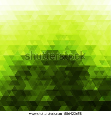 abstract green triangular