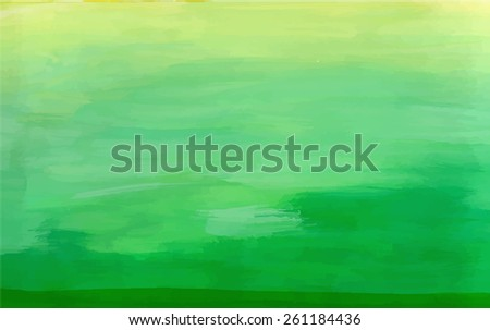 abstract green watercolor hand