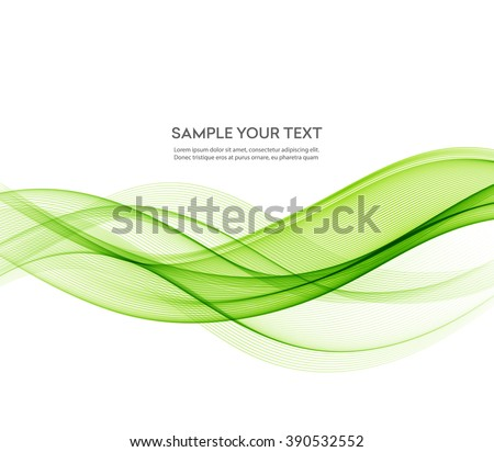 abstract green wavy lines