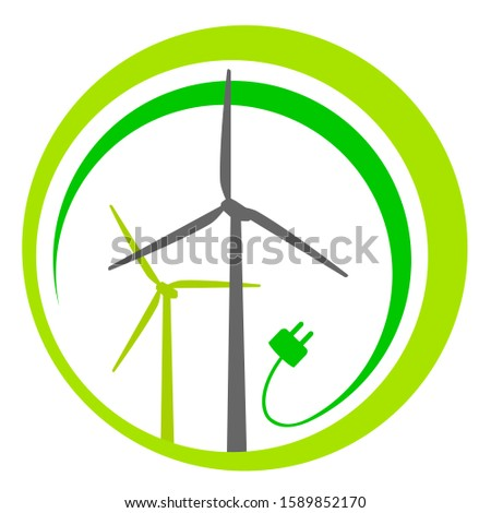 abstract green wind energy