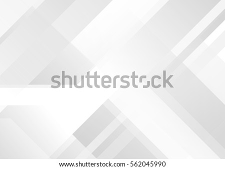 Abstract grey and white tech geometric corporate design background  eps 10 - Shutterstock ID 562045990