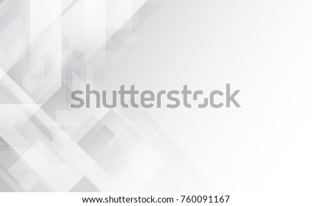 Abstract grey and white tech geometric corporate design background .Vector illustration