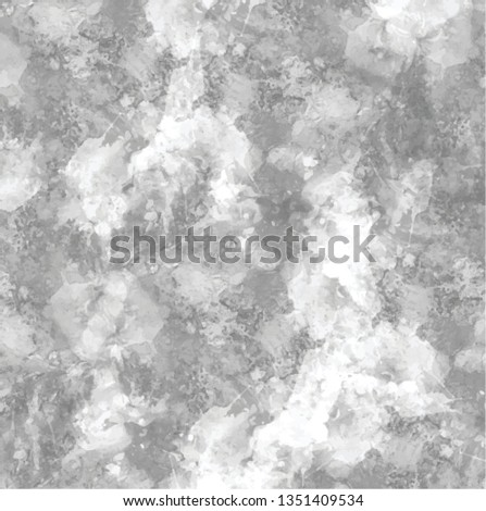Abstract grey art hand paint ink drop splotch on white background. Marble stone look.