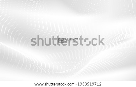 Abstract grey background poster with dynamic. technology network Vector illustration.