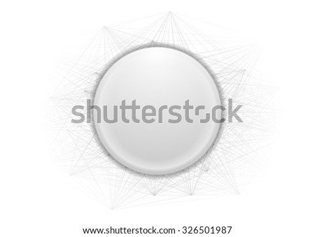 abstract grey circle and lines
