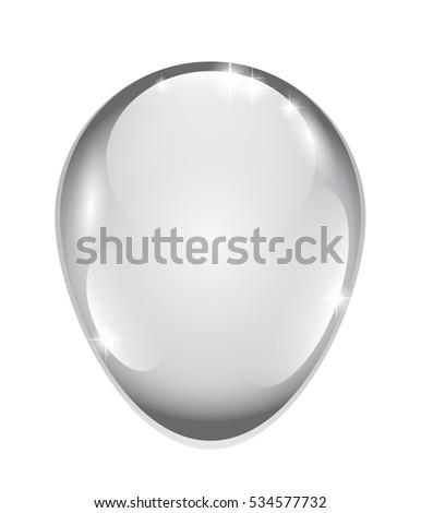 abstract grey egg shaped