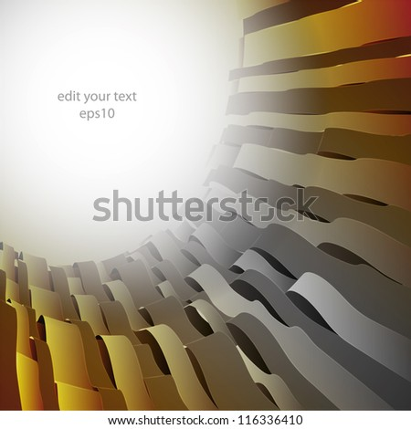 abstract grey shaded wave round space postcard template illustration or backdrop