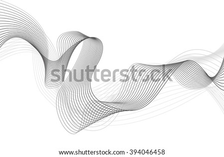 abstract grey wave isolated on