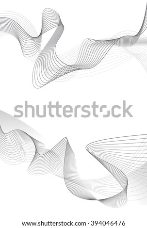 Abstract grey wave isolated on white background. Vector illustration for modern business design. Futuristic wallpaper. Cool element for presentation Сток-фото ©