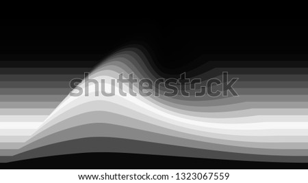 Abstract greyscale pattern with gray perturbation on dark background. Flowing vector graphics Photo stock ©