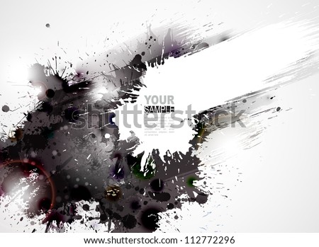 Abstract grunge artistic Background forming by blots