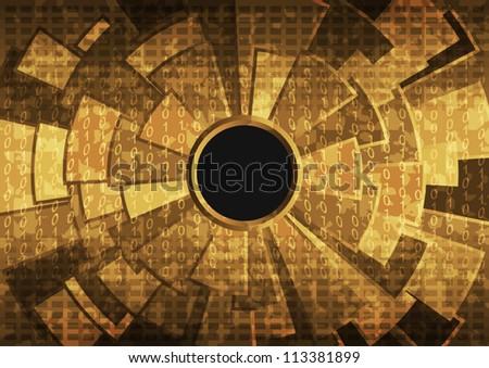 Abstract grunge background illustration with hole.