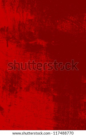 Abstract grunge background - red scratched texture. EPS10 vector illustration.