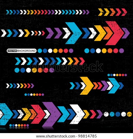 Abstract grunge background - vector - stock vector