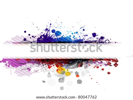 abstract grunge banner design element - vector