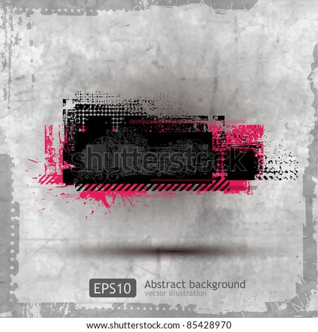 Abstract Grunge Banner design element - vector