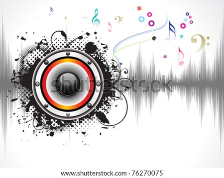 abstract grunge based sound background vector illustration - stock vector