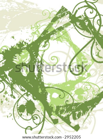 Abstract grunge border background in green colors. Check my portfolio for much more backgrounds as well as thousands of other great vector items.