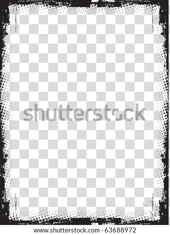 abstract grunge border design element - vector