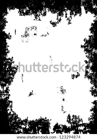 Abstract grunge border design on the white background