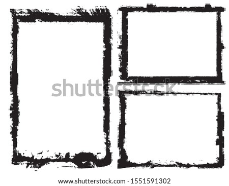 Abstract grunge border frames set