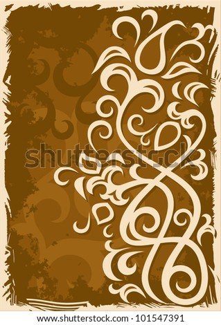 Abstract grunge brown vector background illustration.