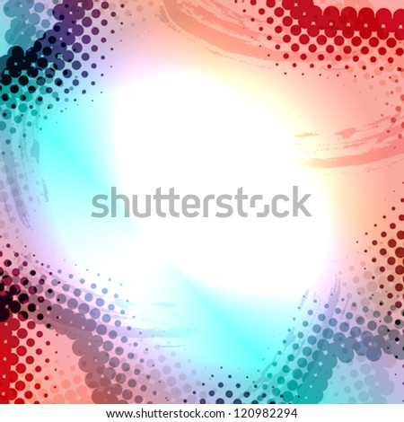 Abstract Grunge colorful Halftone vector illustration pattern background