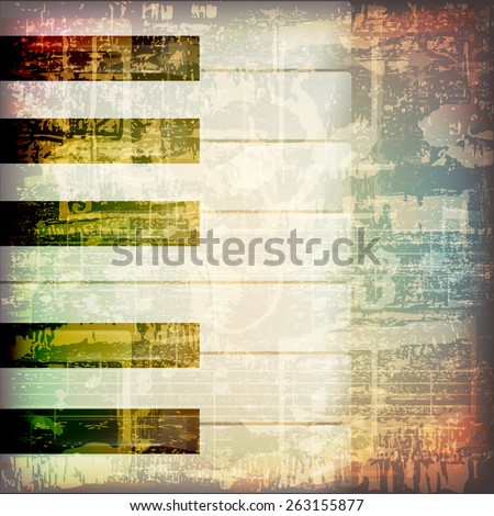 abstract grunge cracked music