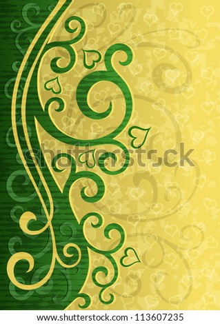 Abstract grunge floral vector illustration.