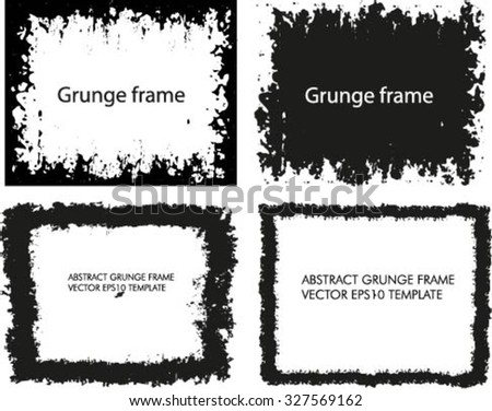 Abstract grunge frame set #327569162