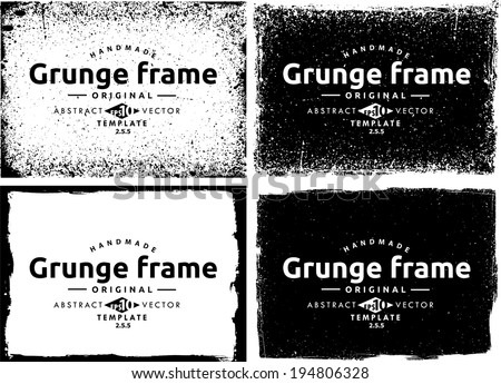 Abstract grunge frame set. Background vector texture #194806328