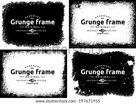 Abstract grunge frame set. Background vector texture #197671955