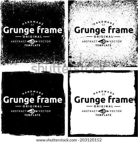 Abstract grunge frame set. Background vector texture #203120152