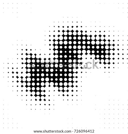 Abstract grunge grid polka dot background pattern. Spotted black and white vector line illustration