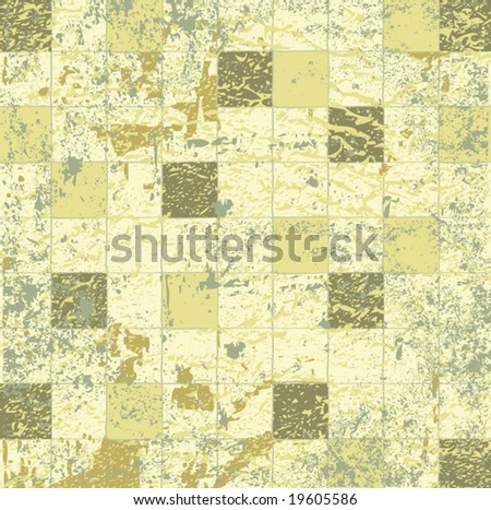 Abstract grunge mosaic tiles vector illustration