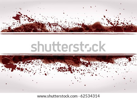 Abstract Grunge paint or blood splatter background